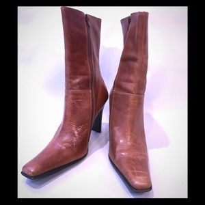 Steve Madden Distressed Brown Leather Boots Sz 10